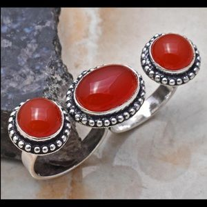 Fun Carnelian Two Finger Ring